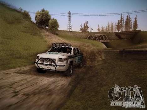 Honda Ridgeline Baja White pour GTA San Andreas vue de droite