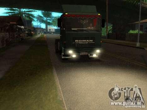 Roman R 10215 FS pour GTA San Andreas sur la vue arrière gauche