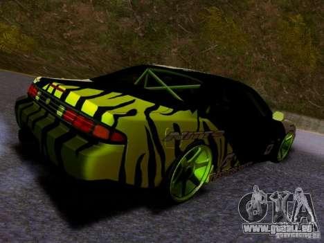 Nissan Silvia S14 Matt Powers v3 pour GTA San Andreas sur la vue arrière gauche