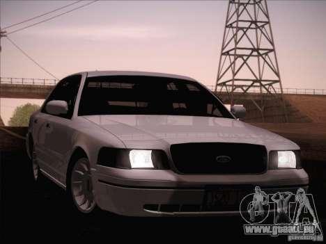Ford Crown Victoria Interceptor für GTA San Andreas obere Ansicht