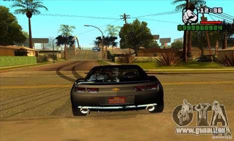 Chevrolet Camaro Concept Z06 2007 pour GTA San Andreas vue arrière