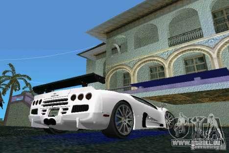 SSC Altimate Aero pour GTA Vice City sur la vue arrière gauche