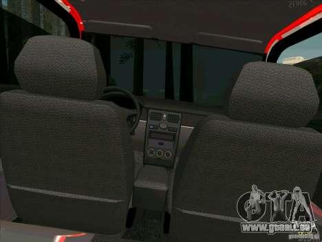 Lada Priora Coupe für GTA San Andreas obere Ansicht