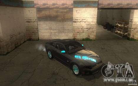 Ford Mustang GT V6 2011 pour GTA San Andreas vue de côté