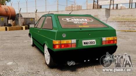 Volkswagen Gol GL 1992 Edit pour GTA 4 Vue arrière de la gauche