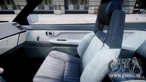 Toyota AE86 TRUENO Initial D pour GTA 4 Vue arrière