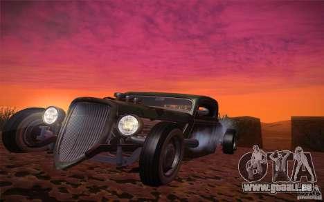 Ford Ratrod 1934 für GTA San Andreas Rückansicht