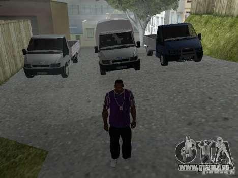 Ford Transit 2005 für GTA San Andreas Seitenansicht