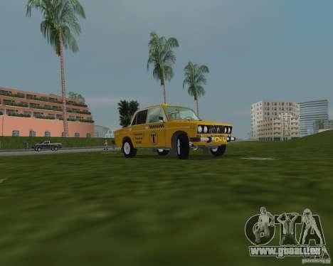 Taxi de VAZ 2106 pour GTA Vice City sur la vue arrière gauche