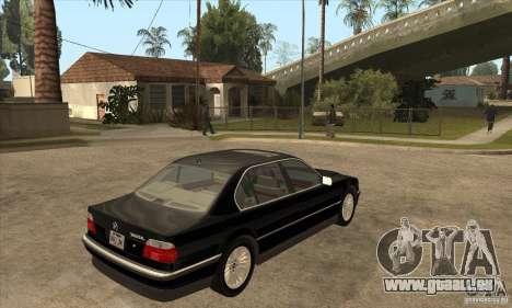 BMW E38 750IL pour GTA San Andreas vue de droite