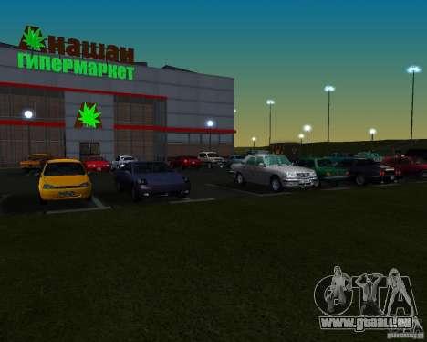 Voitures dans le stationnement à Anašana pour GTA San Andreas