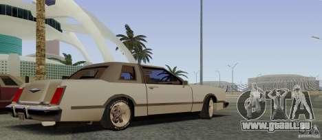 Virgo Continental pour GTA San Andreas vue arrière