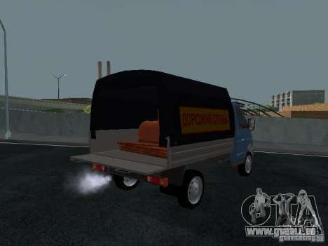 Sable 2310 de gaz à bord pour GTA San Andreas vue arrière