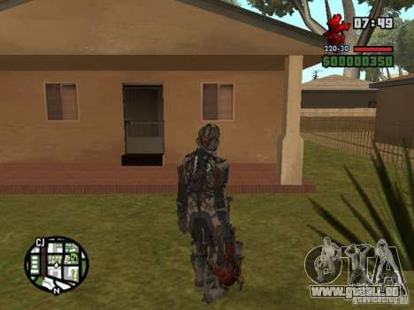 Le costume des jeux Dead Space 2 pour GTA San Andreas quatrième écran