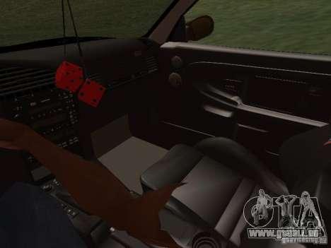 BMW E36 Drift pour GTA San Andreas vue de dessus