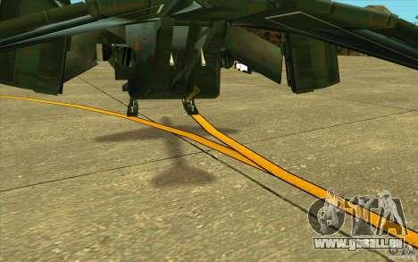 Aliens vs. Predator Marine Drobship pour GTA San Andreas vue de dessus