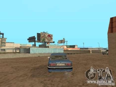 Gaz Volga 31105 pour GTA San Andreas sur la vue arrière gauche