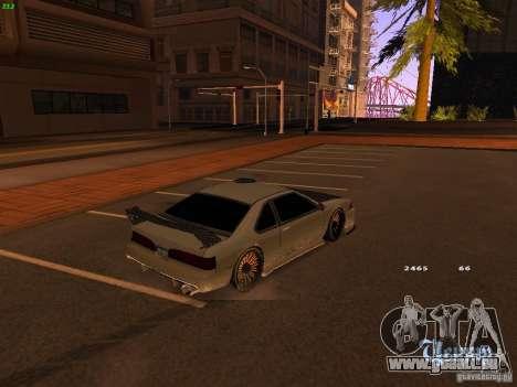 New Racing Style Fortune pour GTA San Andreas sur la vue arrière gauche