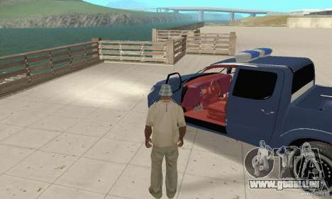 Toyota Hilux Somaliland Police pour GTA San Andreas vue arrière