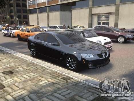 Pontiac G8 GXP pour GTA 4 est un droit