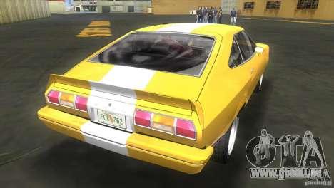 Ford Mustang Cobra 1976 pour une vue GTA Vice City de la gauche