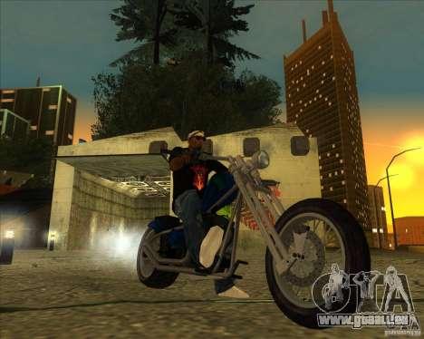 Hexer bike pour GTA San Andreas sur la vue arrière gauche