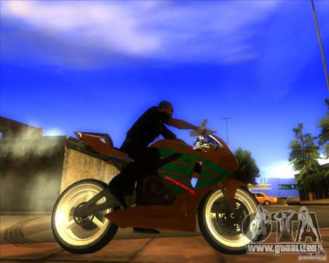 Honda CBR 600RR evo 2005 pour GTA San Andreas laissé vue