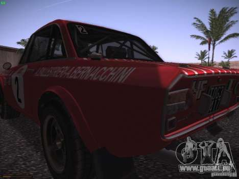 Lancia Fulvia Rally Marlboro für GTA San Andreas Rückansicht