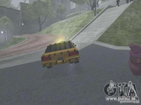 Zombie Taxi für GTA San Andreas Rückansicht