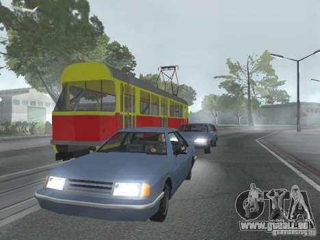 Tatra T3SU pour GTA San Andreas vue de côté