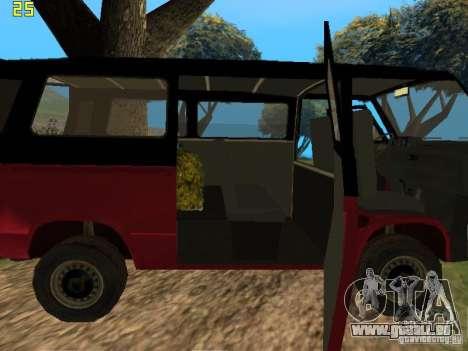 Volkswagen Transporter T3 pour GTA San Andreas vue arrière