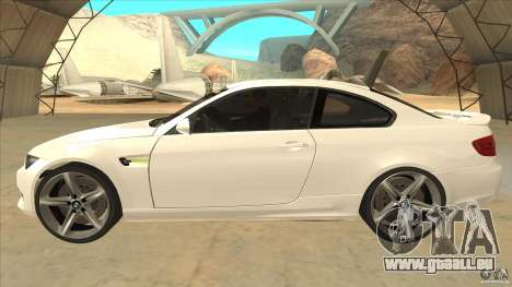 BMW 335i Coupe 2011 pour GTA San Andreas laissé vue