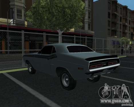 Dodge Chellenger V2.0 für GTA San Andreas zurück linke Ansicht