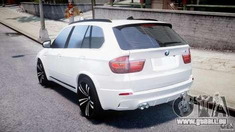 BMW X5M Chrome für GTA 4 hinten links Ansicht