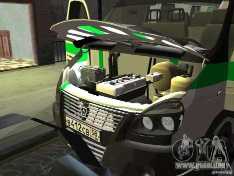Business 3302 gazelle pour GTA San Andreas vue intérieure