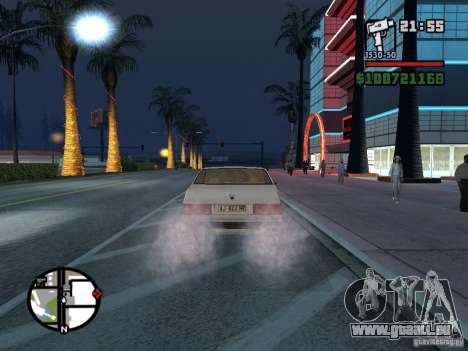 Maserati Ghibli pour GTA San Andreas sur la vue arrière gauche