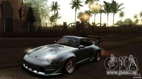 Porsche 993 RWB pour GTA San Andreas vue de dessus