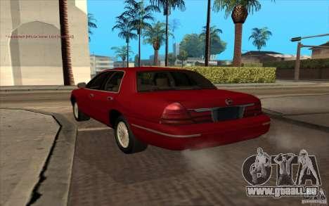 Mercury Grand Marquis 2006 pour GTA San Andreas laissé vue