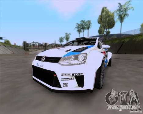 Volkswagen Polo WRC pour GTA San Andreas vue de côté