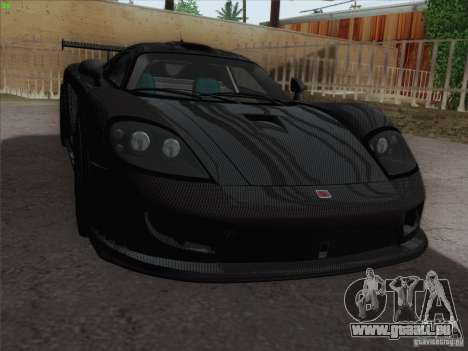 Saleen S7 Twin Turbo Competition Custom pour GTA San Andreas vue intérieure
