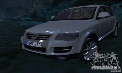 Volkswagen Touareg für GTA San Andreas obere Ansicht
