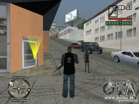 50cent-débardeur pour GTA San Andreas deuxième écran