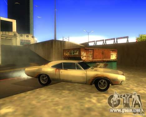 Dodge Charger RT 1969 pour GTA San Andreas laissé vue