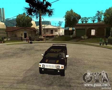 H2 HUMMER DUB LOWRIDE pour GTA San Andreas vue arrière