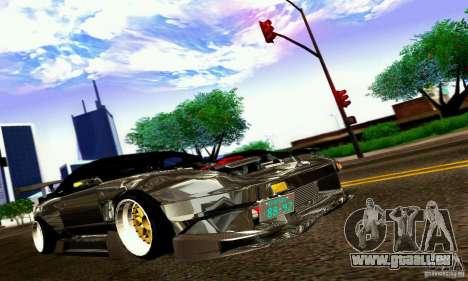 Nissan 180SX Gkon - Drift chrome pour GTA San Andreas vue arrière