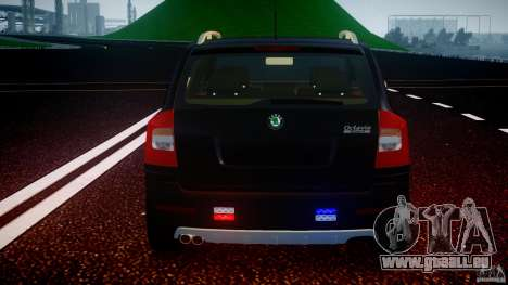 Skoda Octavia Scout Unmarked [ELS] pour GTA 4 roues
