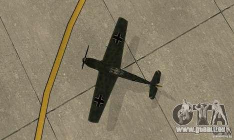 Bf-109 pour GTA San Andreas vue arrière