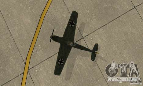 Bf-109 für GTA San Andreas Rückansicht