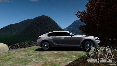 Bugatti Galibier 2009 pour GTA 4 Vue arrière
