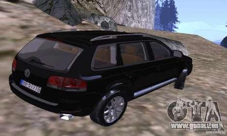 Volkswagen Touareg pour GTA San Andreas sur la vue arrière gauche